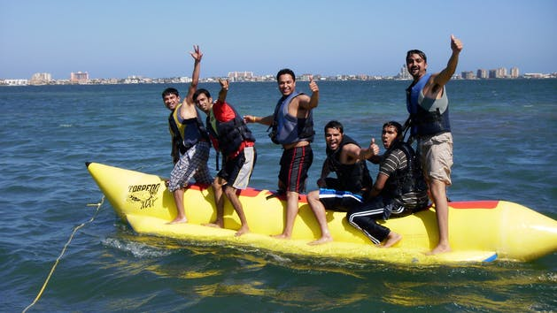 Banana boat ride with Parrot Eyes Watersports