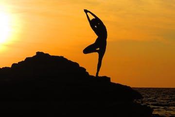 Yoga Sunrise Silhouette