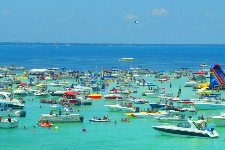 Crab Island in Destin, Florida