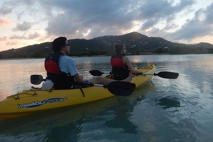 2 people on a kayak