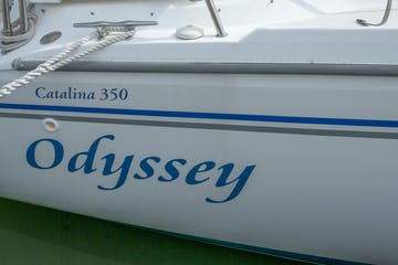 A close up of the side of the Odyssey