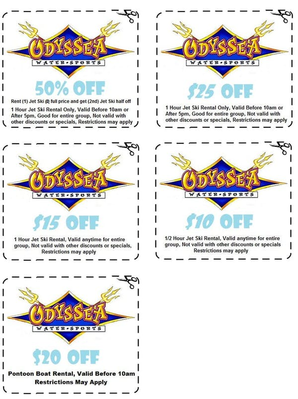 Coupons | Odyssea Watersports