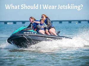 three people jetskiing in Ocean City, MD