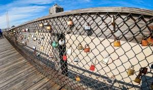 locks on the fishing pier in Ocean City Md