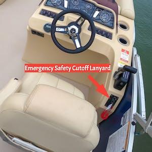 boat engine cutoff switch shown