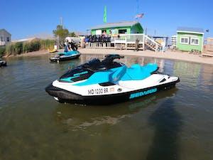 Seadoo GTX sitting in the water in Ocean City, MD