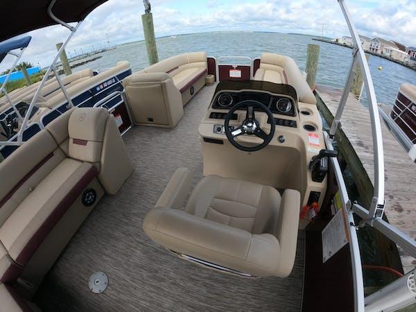 pontoon boat seating
