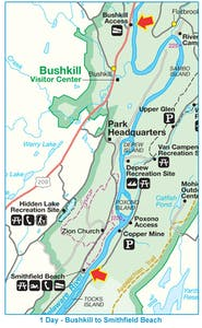 Bushkill to Smithsfield Map