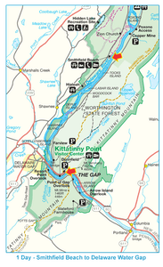 Smithfield to Delaware Gap Map
