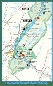 Smithfield to Delaware Gap Map