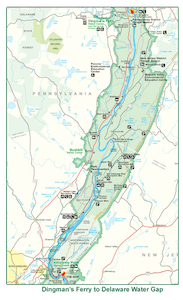 Dingmans to Delaware Water Gap Map
