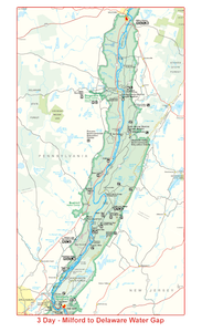 Milford to Delaware Water Gap Map