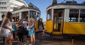 Group and Lisbon trams