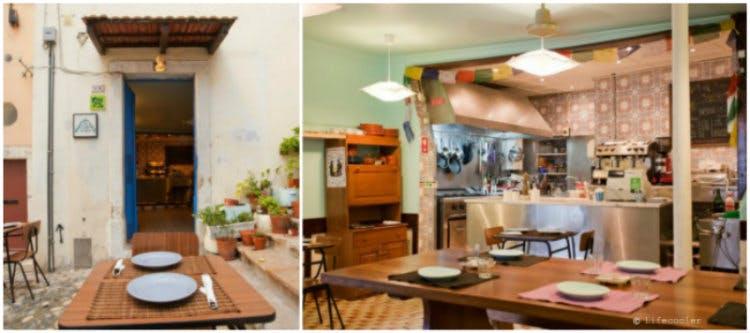 Restaurant pictures collage