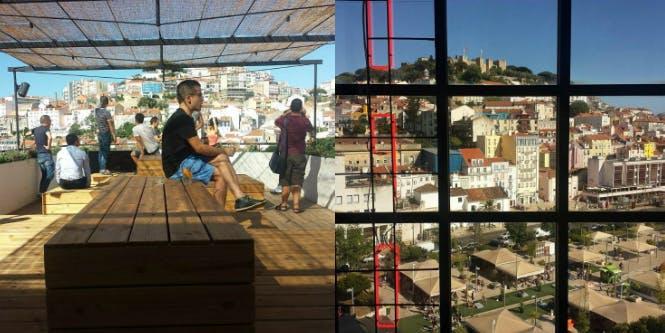 O Topo rooftop bar Lisbon