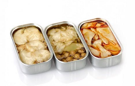 a plastic container filled with food