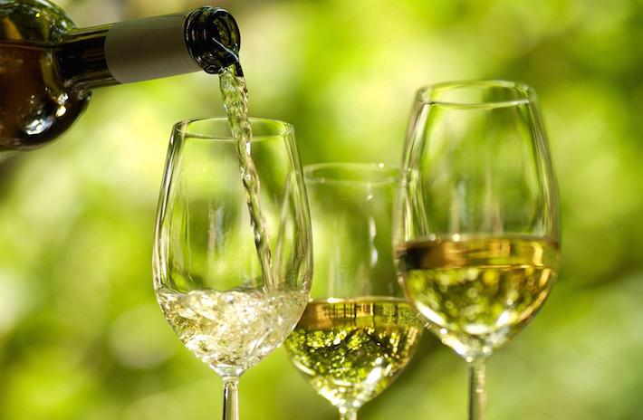 a glass of wine - vinho verde