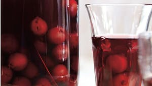 a glass of liqueur