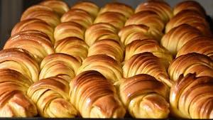 Portuguese pastry: croissant brioche