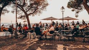 Lisbon terrace Graça viewpoint