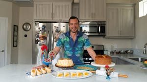 Jeremiah Duarte Bills, a Portuguese pastry chef, does baking out of his home in South Land Park, Sacramento, Calif. on Friday, June 12, 2020. Duarte Bill's extended family immigrated from Portugal, and he feels most connected to his heritage while he is baking traditional Portuguese deserts.
