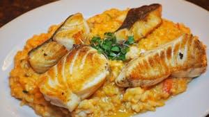 Portuguese food and wine in Canada - filetes com arroz de tomate