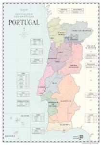 Portuguese wine regions map