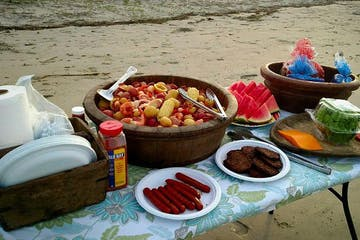 Lowcountry boil on the beach