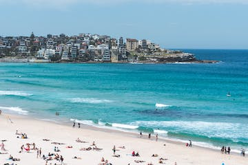 People having a good time in bondi beach