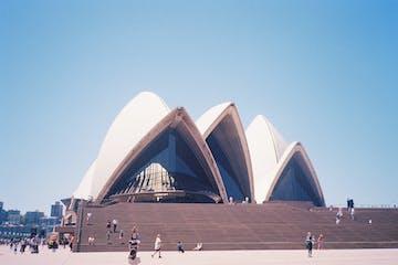 A close view on sydney opera house
