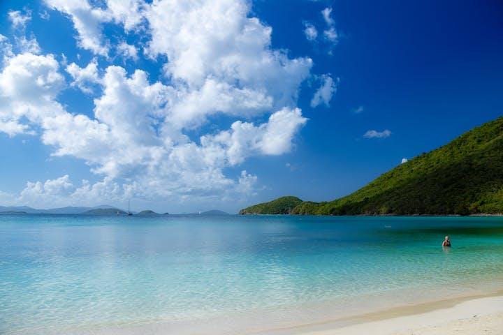 White sand beach in Port Stephens
