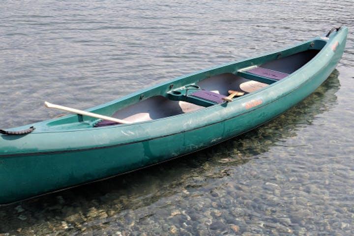 Canoe on water