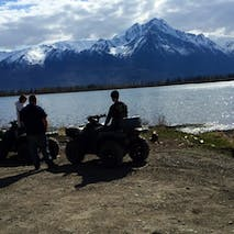 Atv tour to Scenic Alaskan mountain lake