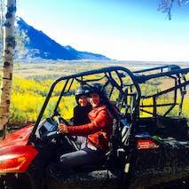 ATV through beautiful Alaskan scenery