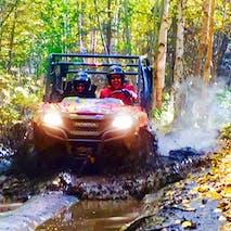 Riders enjoying an Alaska ATV tour