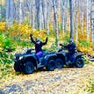 ATV through Alaskan forest