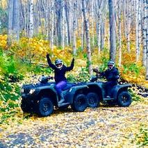ATV through Alaskan forest