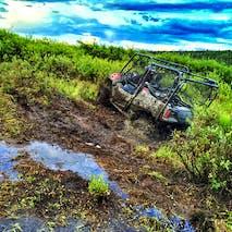 ATV through Alaskan wilderness