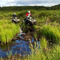 ATV through Alaskan wilderness