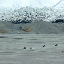 ATV the Alaskan landscape