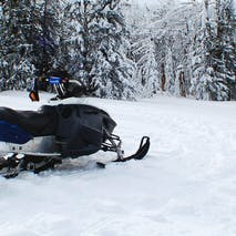 Snowmobile adventures in Alaska