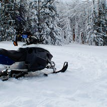 Snowmobile adventures in Alaska
