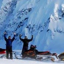 Exploring the Alaska backcountry on Snowmobile