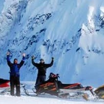 Exploring the Alaska backcountry on Snowmobile