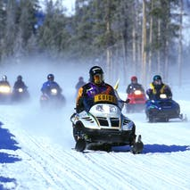 Guided Snowmobile adventure tours in Alaska
