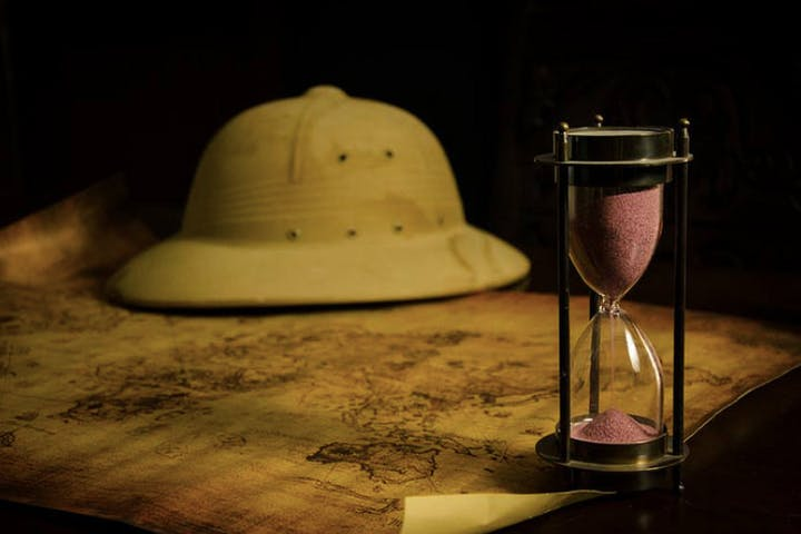 hat and hourglass
