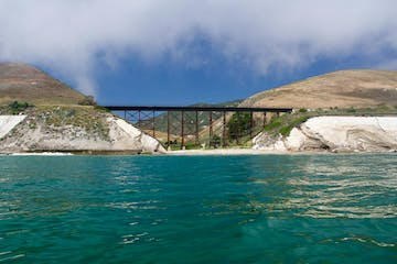 Bridge seen kayaking Gaviota coast