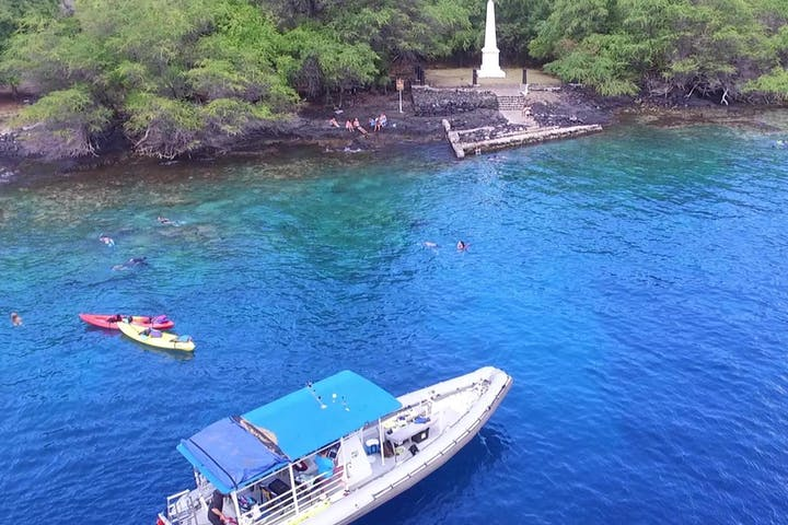 blue water close to a monument