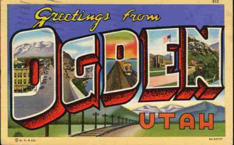 Ogden, Utah postcard