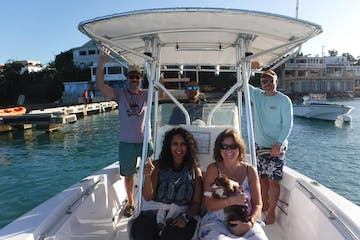 Group on a boat
